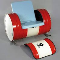 silla super comoda construida con un tanque reciclado