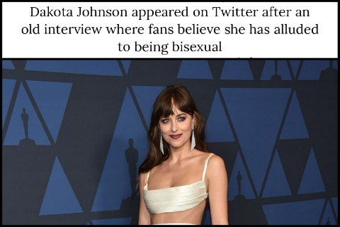 Dakota Johnson appeared on Twitter after an old interview where fans believe she has alluded to being bisexual