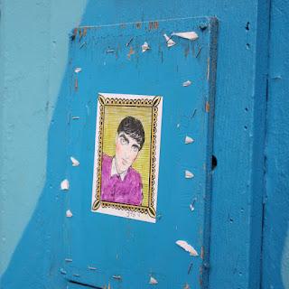 Street Art Berriblue Graffiti Paste Ups Illustration Portrait