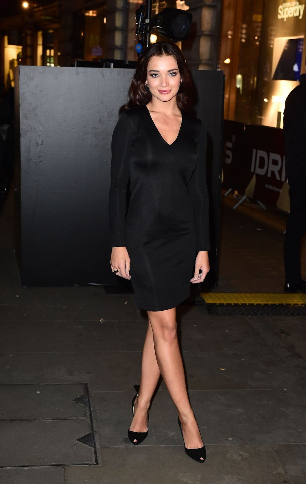 2.0 film actress HQ Wallpapers of Amy Jackson in black mini dress at Idris Elba Superdry Collection Launch In London