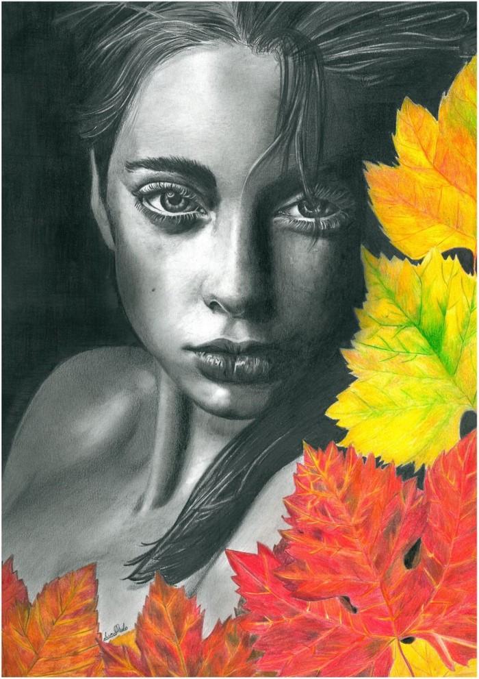 Простыми и цветными карандашами. Laura Muolo