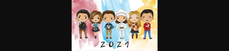 Calendario 2021 de Friends imprimible Gratis