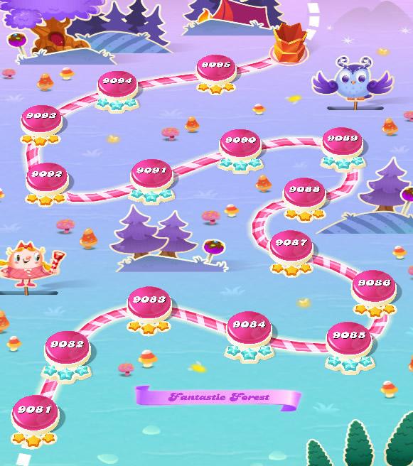 Candy Crush Saga level 9081-9095