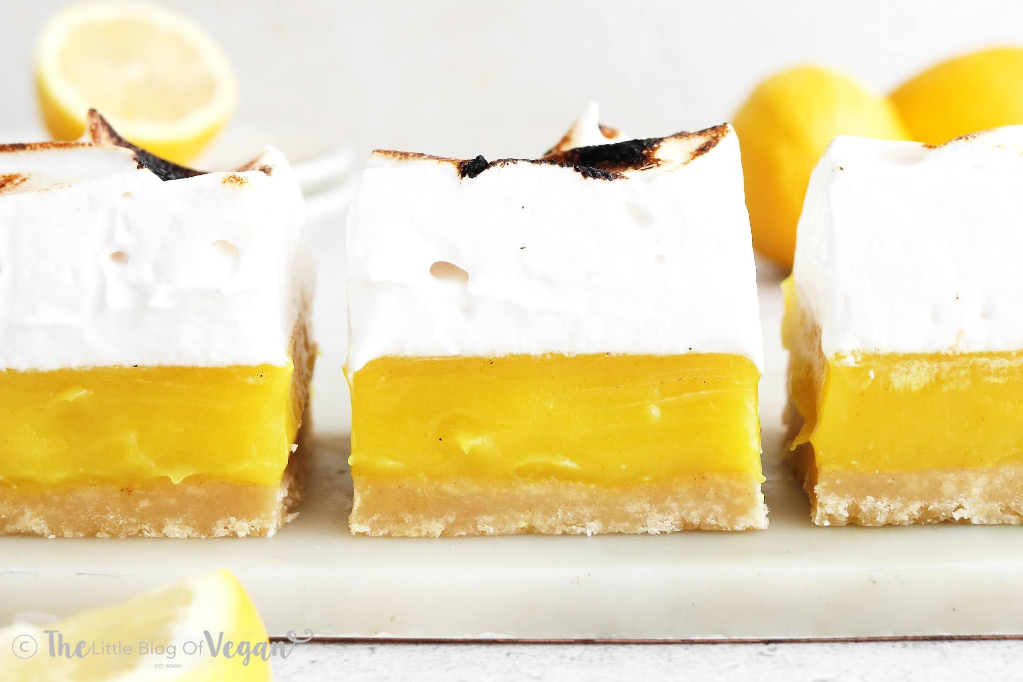 Vegan Lemon Meringue Bars