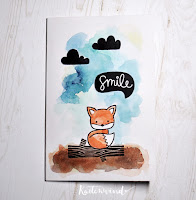 Kartenwind : one layer stamping card #lawnfawn #kartenwind #watercolor