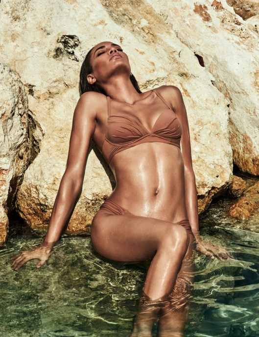 Joan Smalls seduces for the Smart and Sexy Swim Campaign 2017