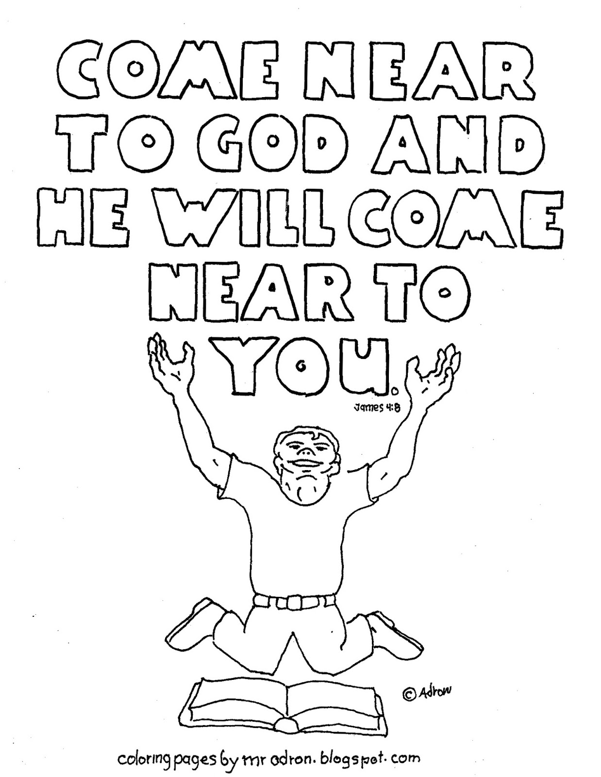 Coloring Pages for Kids by Mr. Adron: Printable James 4:8