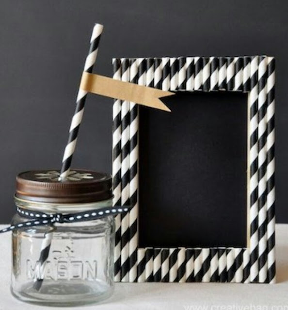 How to make photo frame from a straw