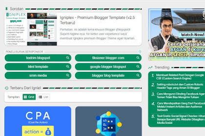 Download Template Igneplex V2.1 Premium Gratis | Blogger Template