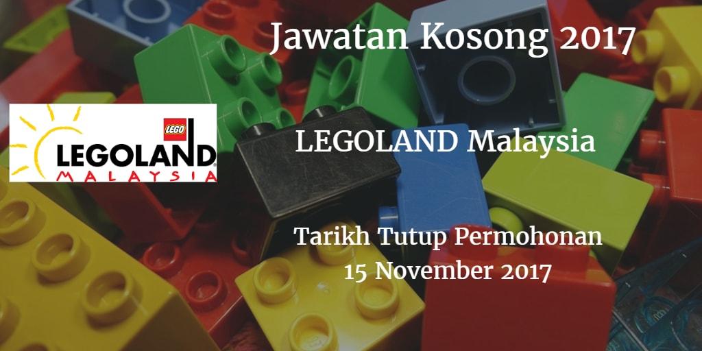 Jawatan Kosong LEGOLAND Malaysia Resort 15 November 2017
