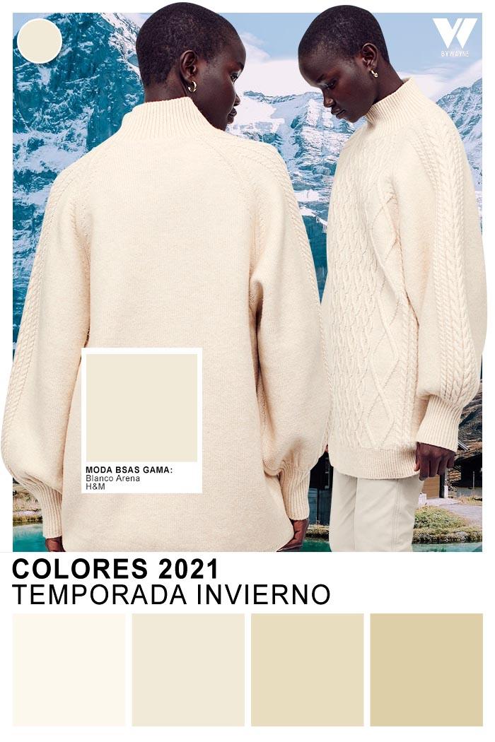 Blanco Arena gama del blanco colores y valores cromaticos de moda otoño invierno 2021
