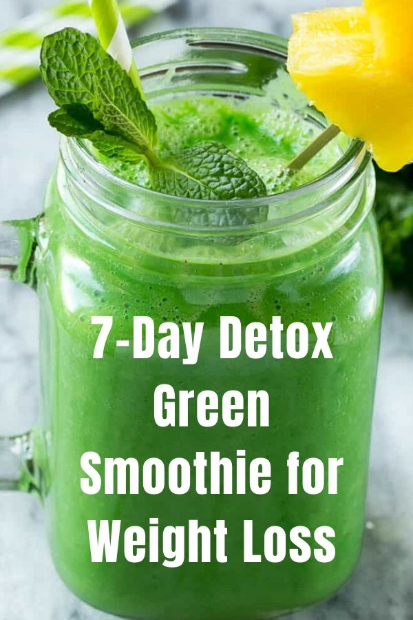 7-Day Detox Green Smoothie for Weight Loss