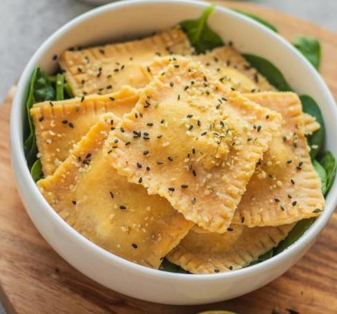 Homemade Ravioli With Tofu And Spinach #vegan #glutenfree