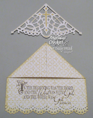 "ODBD ""Decorative Corners"" Die Set, ""The Word of God"", ""Vintage Border Background"" Bookmark Created by Angie Crockett"