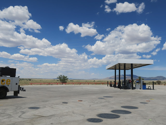 Junction of Highways 54 and 380, Carrizozo, New Mexico. June 2020.
