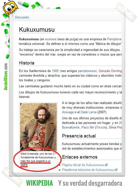Chiste de Kukuxumusu en Wikipedia