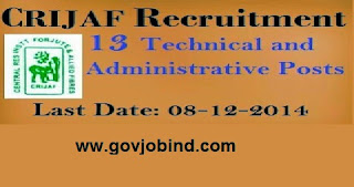 CRIJAF Recruitment 2017-2018 - 2015 for Technical Assistant, Technician, LDC
