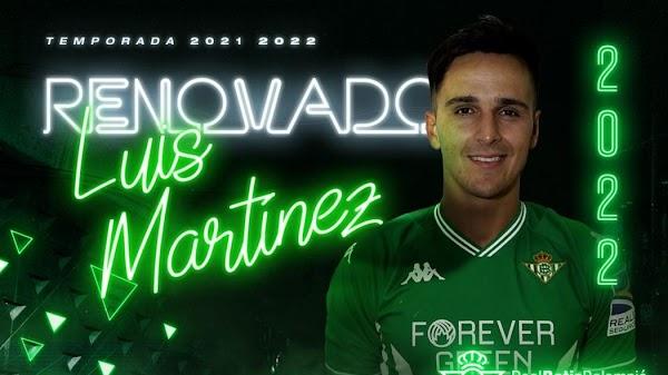 Oficial: Betis Deportivo, Luis Martínez renueva hasta 2022