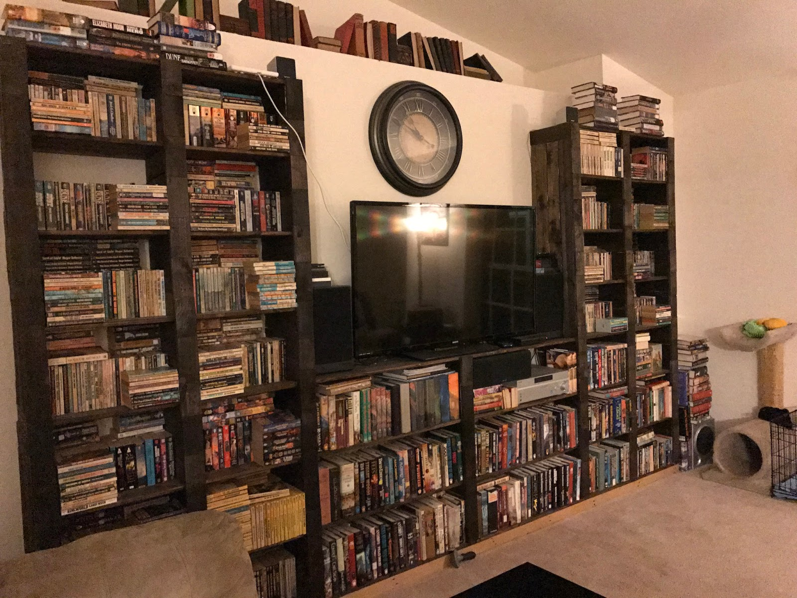 First Edition Fantasy Living Room Book Case Update
