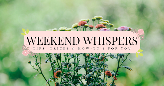 Weekend Whispers: Self-Care & Tips | Pretty Little Memoirs - a Young Adult Book Blog