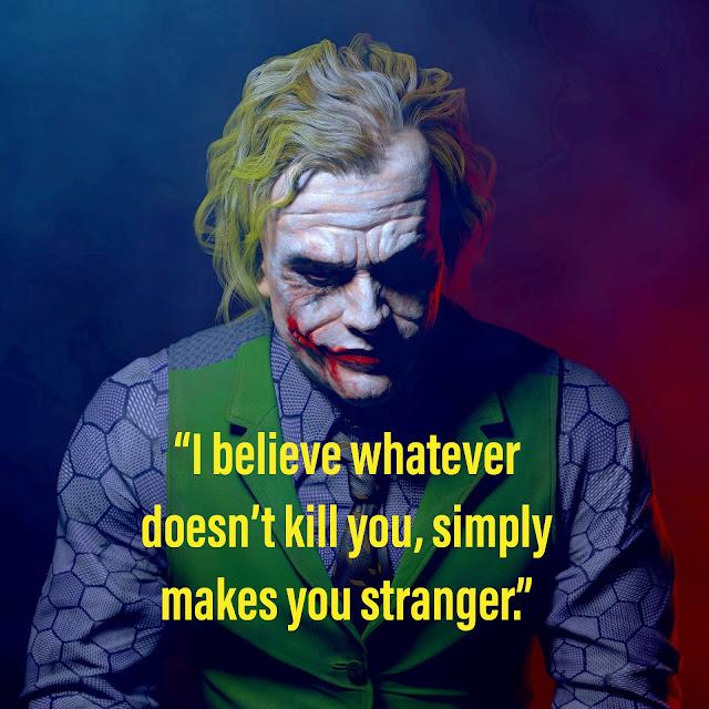 21 Best Heath Ledger Joker Quote images from The Dark Knight | Attitude Whatsapp status