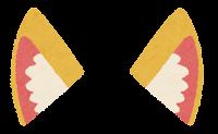 獣耳のイラスト(茶2)