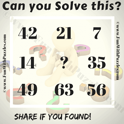 Can you solve this? 42 21 7 14 ? 35 49 63 56