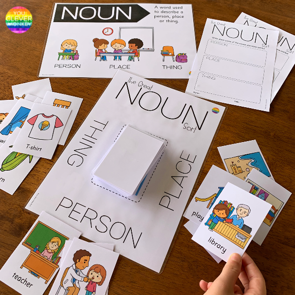 Noun Sorting Pack | you clever monkey