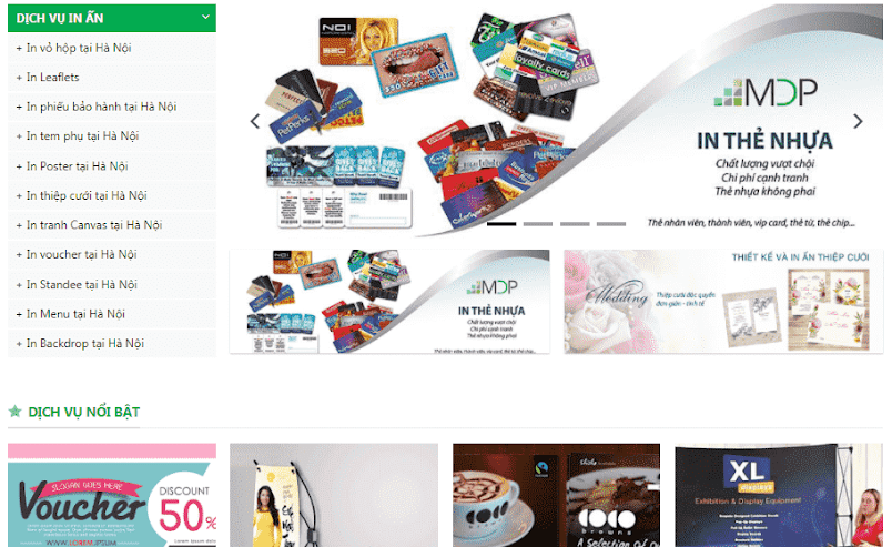 Template blogspot dịch vụ in ấn