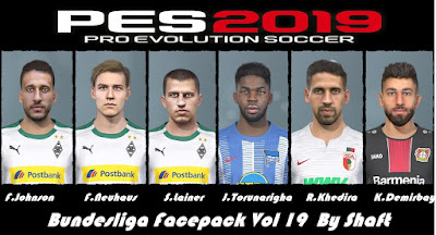 PES 2019 Bundesliga Facepack Vol 19 by Shaft