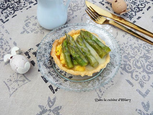 Tartelettes printanières aux œufs et asperges - Dans la cuisine d'Hilary