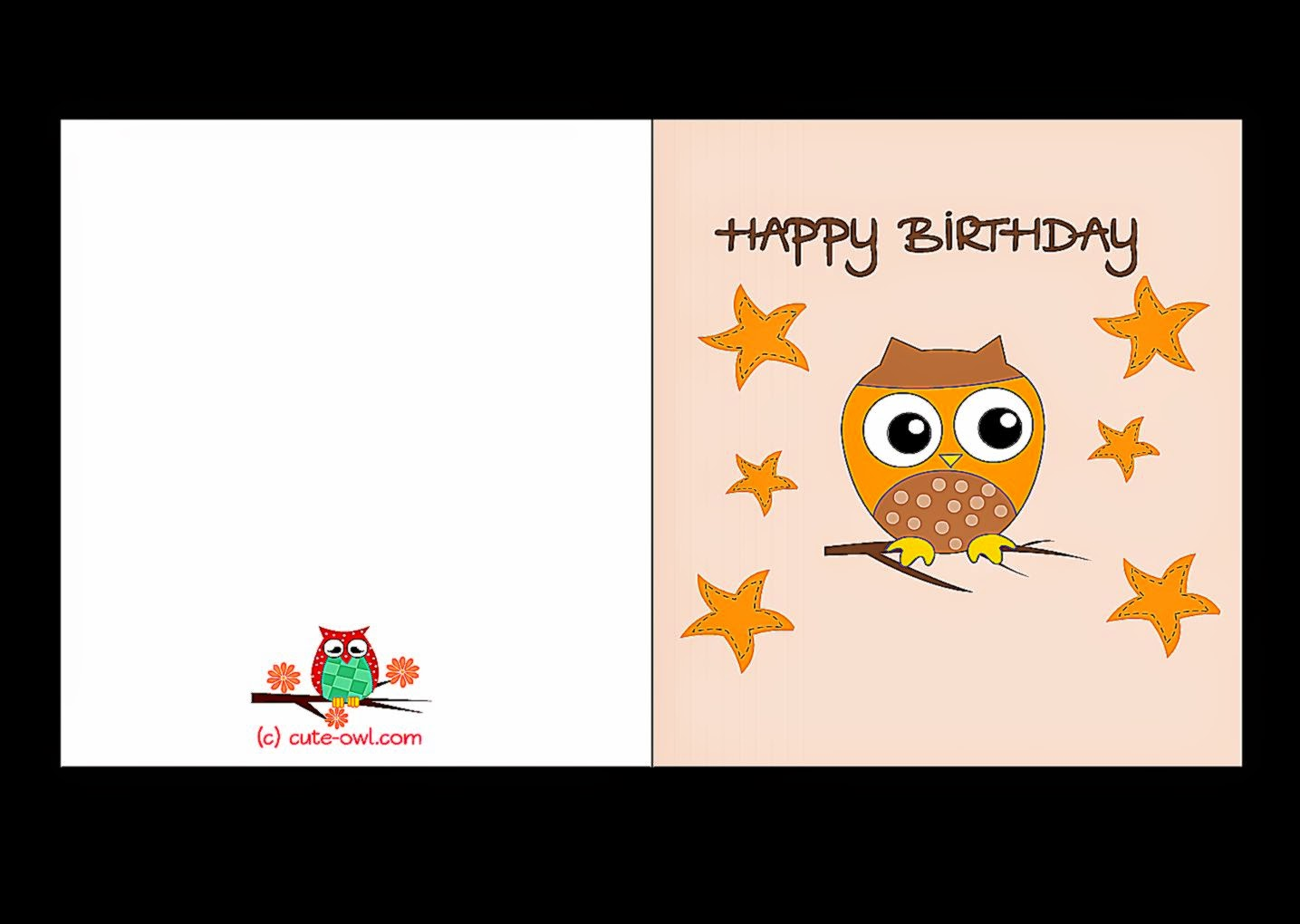 Print Out Birthday Cards | Free Coloring Sheet