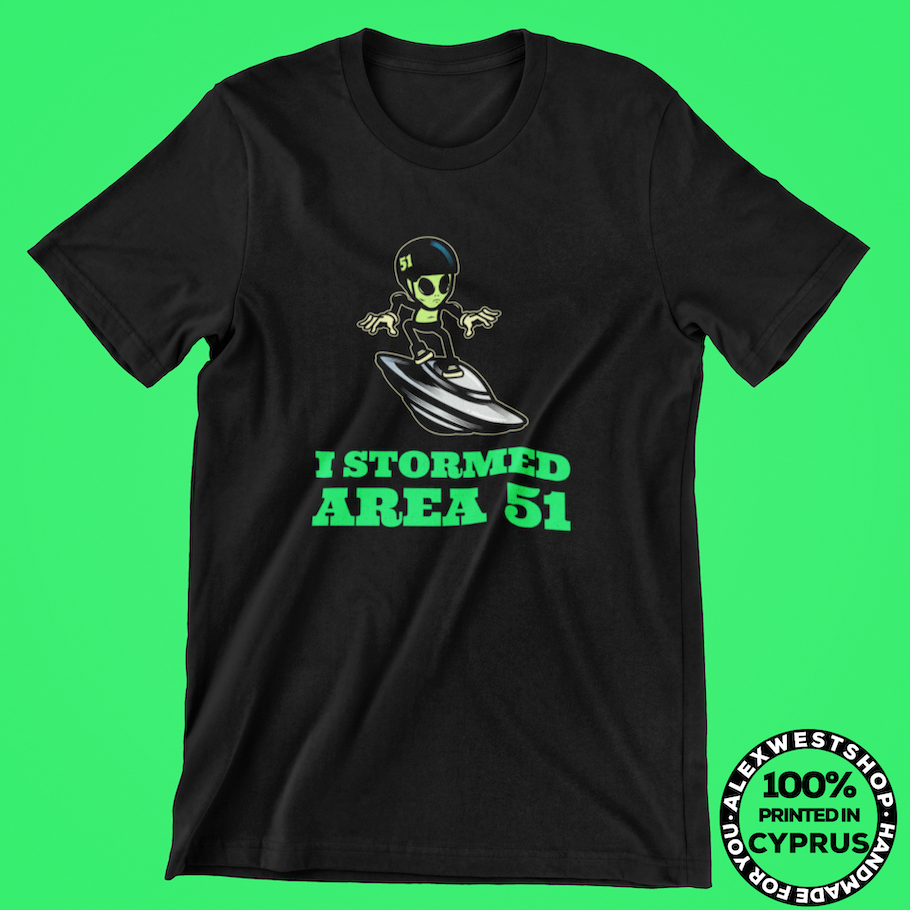 alien neon funny cool t shirt area 51 t shirts