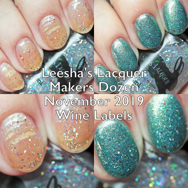 Leesha's Lacquer Makers Dozen Wine Labels November 2019