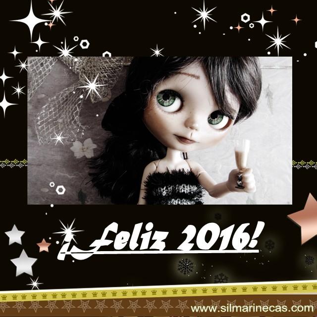 Caty Blythe felicitando el año nuevo