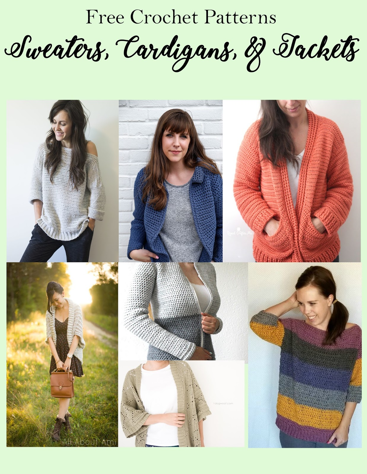 Si Nanay Madel: FREE CROCHET PATTERNS: Sweaters, Cardigans & Jackets