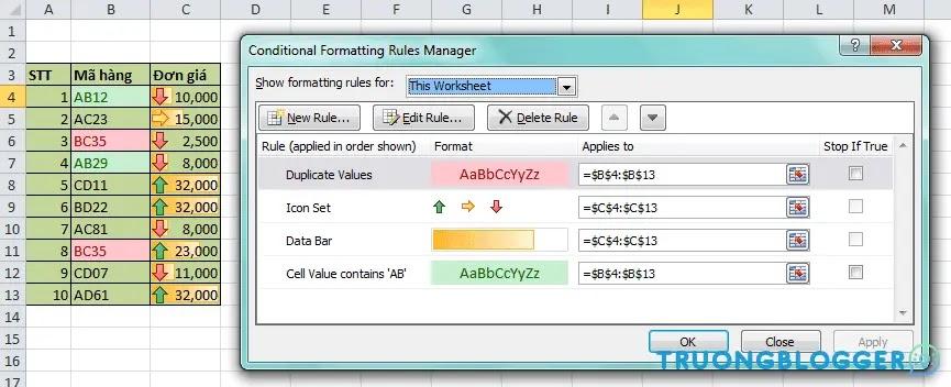 Hướng dẫn sử dụng Conditional Formatting trong Excel chi tiết nhất