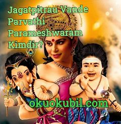 Jagatpitrau Vande Parvathi Parameshwaram Kimdir?