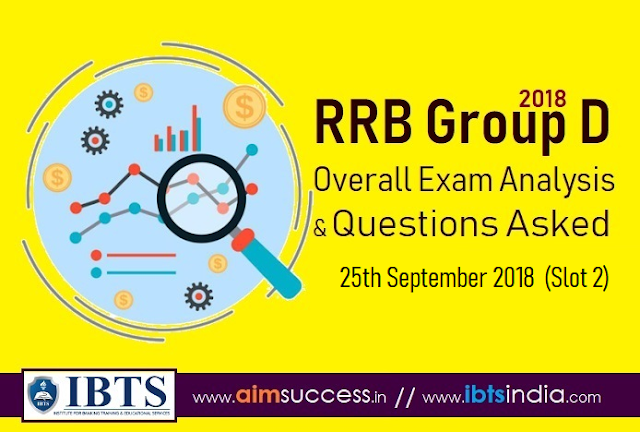 RRB Group D Exam Analysis 25th Sep 2018 & Questions Asked (Slot 1)