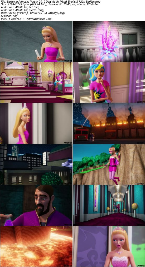 Barbie in Princess Power 2015 Dual Audio [Hindi-English] 720p BluRay worldfree4u