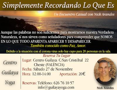 Charla en Cheste, Valencia - Nov 27