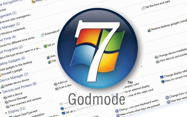 شرح لتفعيل ميزة GodMode للتحكم في 280 خاصية على ويندوز 7 بطريقة بسيطة