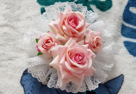 rose head dress, lolita fashion, eglcommunity, lolita handmade, sewing, kawaii, pastel, jfashion, auris lothol, tutorial, diy,