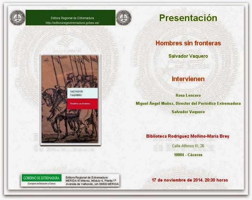 Hombres sin Fronteras: Salvador Vaquero
