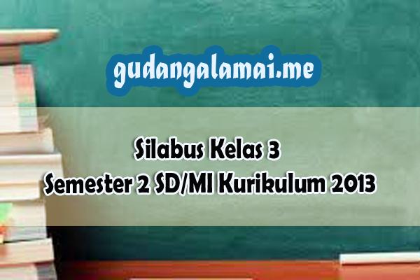Silabus Kelas 3 Semester 2 SDMI Kurikulum 2013