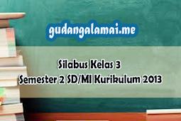 Silabus Kelas 3 Semester 2 SD/MI Kurikulum 2013