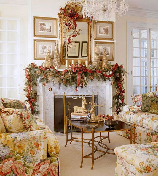 Pix grove incredible living room decorating ideas for - Christmas decorations for the living room ...