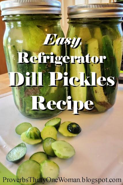 Easy Refrigerator Dill Pickle Recipe