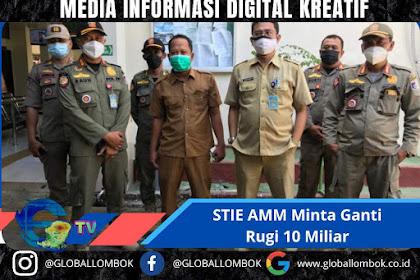 Layangkan Surat Eksekusi Kepada STIE AMM, Satpol-PP Lombok Barat Dituntut Ganti Rugi 10 Miliar