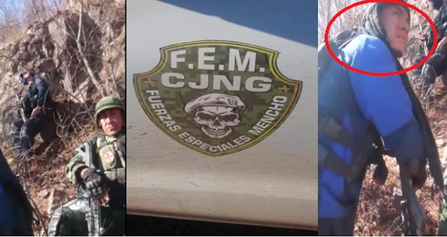 Video donde un Helicóptero Artillado rafaguea a las Fuerzas Especiales del Mencho aparece un Sicario de Carteles Unidos